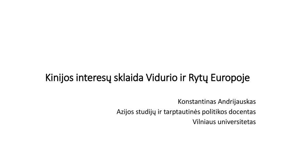 vidurio universiteto tarptautinė strategija)