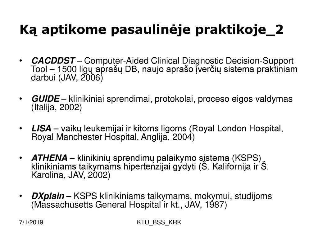 hipertenzijos gydymo protokolai