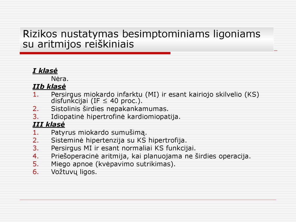aritmijos sindromo hipertenzija hipertenzijos klasifikavimas ir gydymas